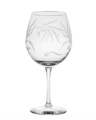 Rolf Glass Olive Balloon Wine 18Oz - Set Of 4 Glasses
