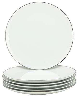 10 Strawberry Street Coupe Silver Line Charger Plate, Buffet