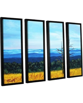 "ArtWall 'Serene Mountain Tops' by Gene Foust 4 Piece Framed Painting Print on Wrapped Canvas Set JJM7395 Size: 24"" H x 32"" W x 2"" D"