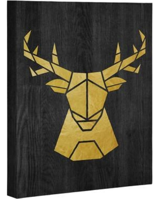 "East Urban Home Deer Symmetry Painting Print on Wrapped Canvas USSC3401 Size: 30"" H x 24"" W x 1.5"" D"