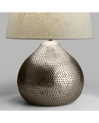 Pewter Punched Metal Prema Table Lamp Base by World Market