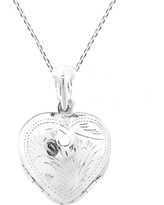 Handmade 4 Layer Lucky Heart Locket Pendant Sterling Silver .925 Cable Necklace (Thailand) (White)