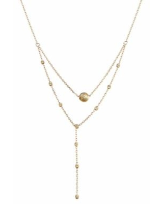 """""""10k Gold Double Strand Textured Bead Necklace, Women's, Size: 17"""", Yellow"""""""
