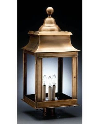 Northeast Lantern Concord 28 Inch Tall 3 Light Outdoor Post Lamp - 5653-DB-LT3-SMG
