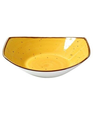 "Foundry Select Omak 9"" Salad Plate X111120118 Color: Yellow"