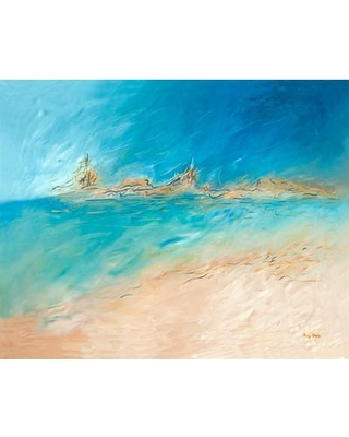 """PTM Images Linear Hue Painting Print on Wrapped Canvas 9-1932 Size: 30"""" H x 40"""" W x 1.5"""" D"""