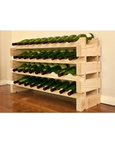 Vinotemp 36 Bottle Floor Wine Rack EP-4472-36 / EP-4472-36S Finish: Natural