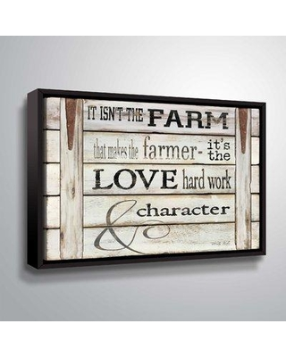 "Gracie Oaks 'It Isn't the Farm' Textual Art BI094450 Size: 14"" H x 18"" W x 2"" D Format: Floater Framed"