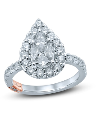 Jared The Galleria Of Jewelry Pnina Tornai Exclusive Love Diamond Engagement Ring 1-3/4 ct tw Pie/Round 14K Two-Tone Gold