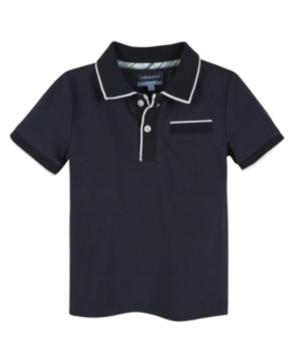 Andy & Evan Baby Boy's Polo with Ribbing