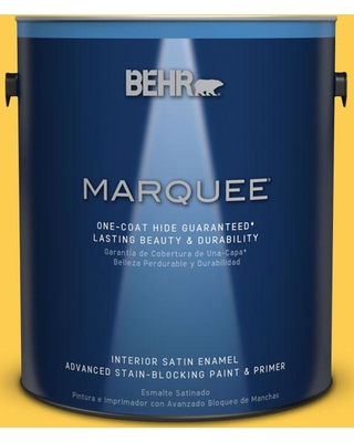 BEHR MARQUEE 1 gal. #T16-05 Canary Diamond Interior Satin Enamel Paint and Primer in One