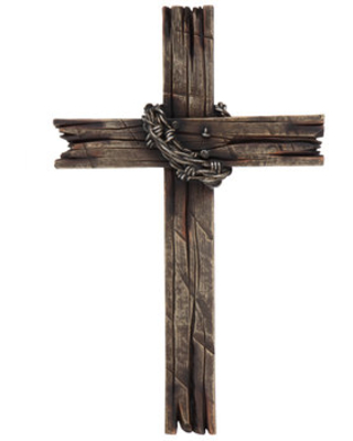 Sales Are Here 50 Off Brown Wood Grain Faux Barb Wire Wall Cross