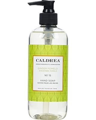 Caldrea Hand Wash Soap, Aloe Vera Gel, Olive Oil and Essential Oils to Cleanse and Condition, Ginger Pomelo Scent, 10.8 oz
