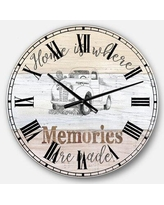 Here S A Great Deal On East Urban Home Farmhouse Wall Clock Metal In Beige Size Medium Wayfair 83576905bbfe4d0981b19f2782a6dde3