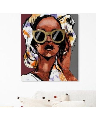 """House of Hampton 'Sketchy Fashion II' Graphic Art Print BF185365 Size: 24"""" H x 20"""" W x 1.5"""" D Format: Wrapped Canvas"""