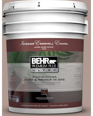 BEHR Premium Plus Ultra 5 gal. #N170-4 Coffee with Cream Eggshell Enamel Interior Paint and Primer in One