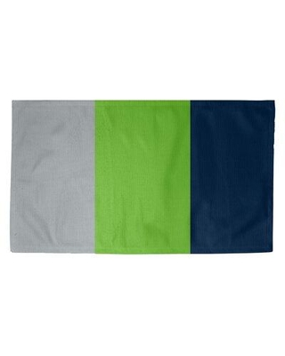 East Urban Home Seattle Football Blue/Gray/Green Area Rug FCJK9403 Rug Size: Rectangle 2' x 3' Backing: No