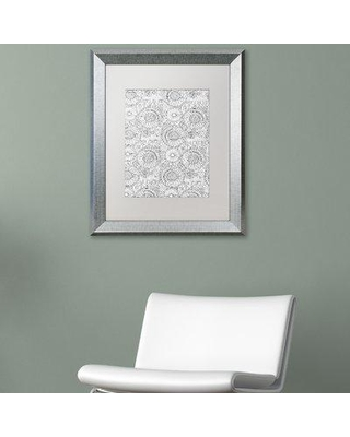 """East Urban Home 'Pattern Three' Framed Graphic Art ETRB1961 Matte Color: White Size: 20"""" H x 16"""" W x 0.5"""" D"""