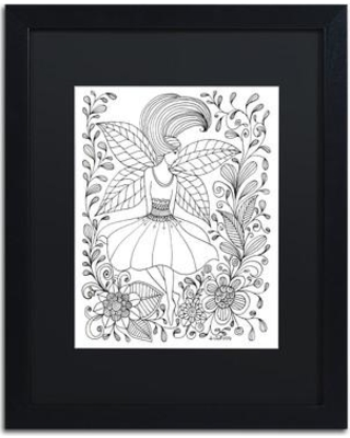"Trademark Art Fairy' Framed Graphic Art on Canvas ALI3579-B1 Size: 14"" H x 11"" W x 0.5"" D Matte Color: Black"