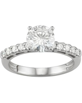 14K White Gold Lab-Created Moissanite 1 3/4 Ct. T.W. Solitaire Engagement Ring, Women's, Size: 5