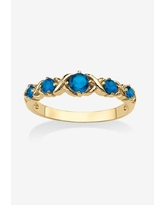 Plus Size Women's Yellow Gold-Plated Simulated Birthstone Ring by PalmBeach Jewelry in September (Size 7)