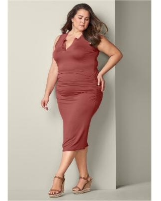"""""""Plus Size Casual Tank Dress Dresses - RED"""""""