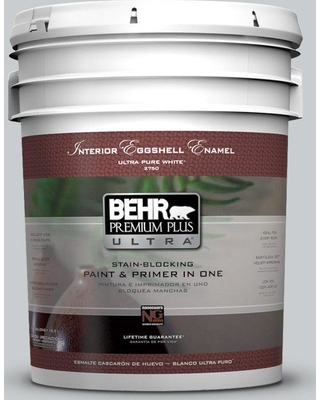 BEHR ULTRA 5 gal. #N500-2 Loft Space Eggshell Enamel Interior Paint and Primer in One