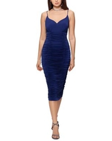 Xscape Ruched Bodycon Dress - Ink Blue