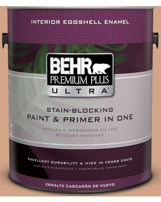 BEHR ULTRA 1 gal. #260F-4 Sunset Beige Eggshell Enamel Interior Paint and Primer in One