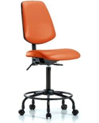 Symple Stuff Gavin Round Tube Base Ergonomic Office Chair BF162250 Casters/Glides: Casters Tilt Function: Included Color: Orange