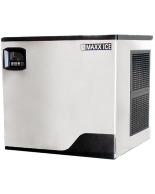"""MIM360N 22"""" Narrow Modular Ice Maker with 373 lbs. Daily Ice Production Stainless Steel Exterior and Hinged Front Panel in Stainless"""