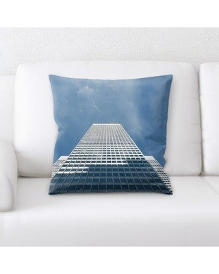East Urban Home Skyscraper Throw Pillow W000133936