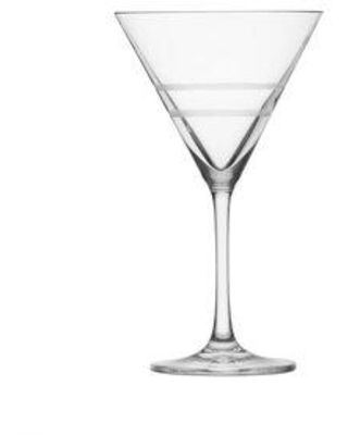 Crafthouse by Fortessa Signature Etched Cocktail 9 oz. Martini Glass CRFTHS.119730