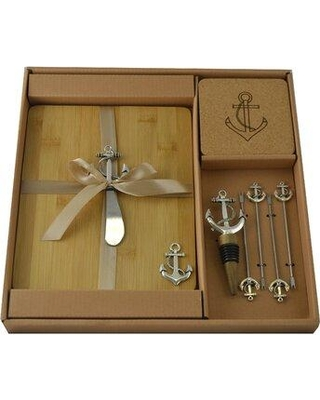 Three Star Im/Ex Inc. Three Star Im/Ex Inc. Bamboo Wine and Cheese Charcuterie Anchor Handles Cutting Board SX3210