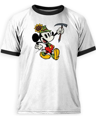 Mickey Mouse Yodelberg Ringer Tee for Men Customizable Official shopDisney