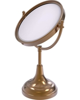 Allied Brass 8 in. x 15 in. Vanity Top Free-Standing Make-Up Mirror 2X Magnification in Brushed Bronze