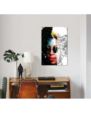 """East Urban Home 'The Patriot' Graphic Art Print on Canvas EBHU7955 Size: 18"""" H x 12"""" W x 0.75"""" D"""