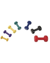 Power Systems Deluxe Vinyl Coated Dumbbells, 15 lbs, Red, 1 Each | Quill