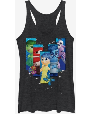 Disney Inside Out Riley's Emotions Boxes Womens Tank