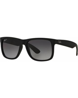Ray-Ban Justin RB4165 55mm Rectangle Polarized Sunglasses, Adult Unisex, Dark Grey