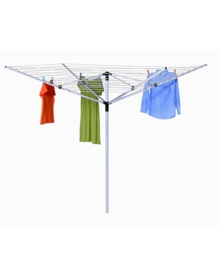 Honey-Can-Do® Outdoor Umbrella Clothes Line Dryer in White
