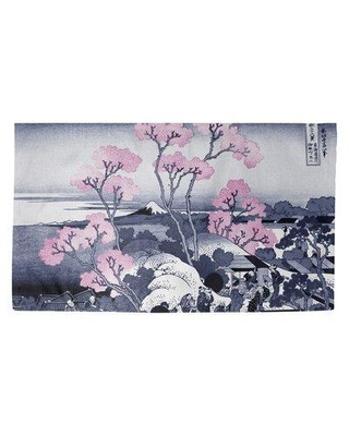 Find Big Savings On World Menagerie Mt Fuji And Cherry Blossoms Dobby Indoor Doormat X114502493 Mat Size Rectangle 7 2 X 5 4 5