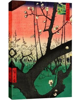 Cortesi Home 'Plum Park in Kameido' by Andrew Nicholl Painting Print on Wrapped Canvas CH-CA1218157