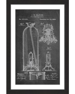 """Marmont Hill 'Extinguisher 1880 Chalk' by Steve King Framed Painting Print MH-STVKG-107-BFP Size: 24"""" H x 16"""" W x 1.5"""" D"""