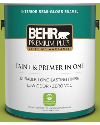 BEHR Premium Plus 1 gal. #PPU10-05 Intoxication Semi-Gloss Enamel Low Odor Interior Paint and Primer in One