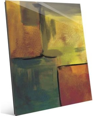 """Click Wall Art 'Canary Echo Chamber' Print of Painting on Glass CBS0002719GLS Size: 10"""" H x 8"""" W x 1"""" D"""
