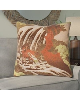 Bloomsbury Market Channelle Horse and Waterfall Indoor Euro Pillow BBMT6001 Color: Yellow