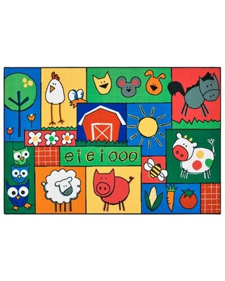 """KID$ Value Rugs™ Tufted Green/Blue/Yellow Area Rug Carpets for Kids Rug Size: Rectangle 3' x 4'6"""""""