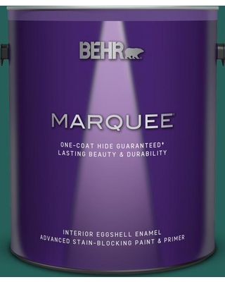 BEHR MARQUEE 1 gal. #S-H-490 Billiard Table Eggshell Enamel Interior Paint and Primer in One