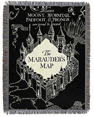 """Harry Potter, 'Night Map' Woven Tapestry Throw Blanket, 48"""" x 60"""", Multi Color"""
